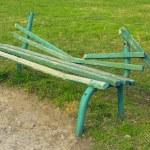 Broken green bench — Stock Photo #24609601