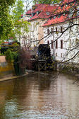 Prague River Street home — Stock Photo