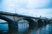 Prague Bridge River — Stock Photo