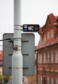 указатель, дорожный знак — Стоковое фото