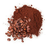 çekilmiş kahve ve tahıl — Stok fotoğraf