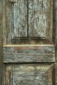 Wood background rusty nail — Stock Photo