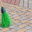 Stock Photo: Broom tile