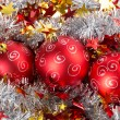 Tinsel Christmas ball — Stock Photo #34346741