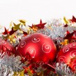 Tinsel Christmas ball — Stock Photo #34347357