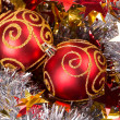Stock Photo: Tinsel Christmas ball