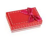 Box ribbon bow — Stock Photo