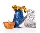 Christmas, bag, candle, bell — Stock Photo