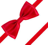 Red bow ribbon — Stock Photo
