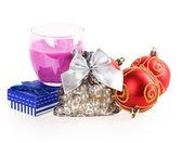 Candle, box, bag — Stock Photo