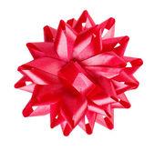 Red bow ribbon — Stock Photo