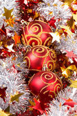 Tinsel Christmas ball — Stok fotoğraf