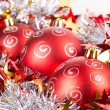 Tinsel Christmas ball — Foto Stock