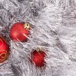 Christmas tinsel ball — Stock Photo