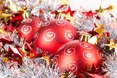 Tinsel Christmas ball — ストック写真