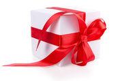 Box bow ribbon — Foto de Stock