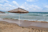 Sea beach umbrella — Stockfoto