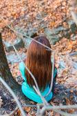 秋天的女人 — 图库照片