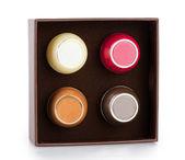 Plastic boxes for cosmetics — Stock Photo