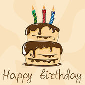 Happy birthday cake — Stock Vector