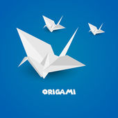 Origami paper — Stock Vector