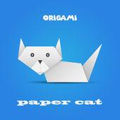 Origami cat — Stock Vector