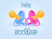 Baby soother background — Stock Vector
