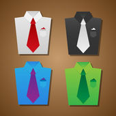 Shirt and tie background — Stock Vector