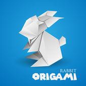 Origami kanin — Stockvektor
