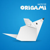 Origami mouse — Stock Vector