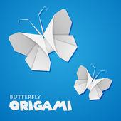 оригами бабочка — Cтоковый вектор