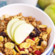 Granola with nuts and fruits — Stock Photo