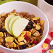 Granola with nuts and fruits — Stock Photo #18338289