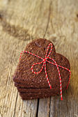 Chocolate heart-shaped cookies for Valentine's day — Photo