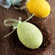 Easter egg in a nest — Stock Photo