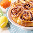 Sweet rolls with dried fruits for easter — Stock Photo #19726529