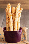 Bread sticks with cheese — Stock Photo