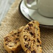 Pumpkin, nuts and chocolate biscotti — Stock Photo #35552845
