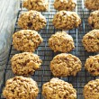 Pumpkin oat cookies — Stock Photo