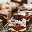 Cheesecake brownies with raspberry — Stock Photo #35552951