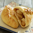 Yeast pastry with apples — Stok fotoğraf