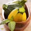 Variety of round squash — Stock Photo