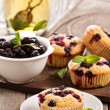 Muffins with black currant — Stock Photo #35557615