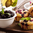 Muffins with black currant — Stock Photo #35557623