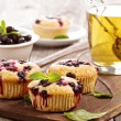 Muffins with black currant — Stock Photo