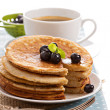 Stacked pancakes with berries — Stock Photo #35558095