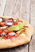 Vegetable open pie — Stock Photo