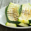 Grilled zucchini on plate — Stock Photo #35636481