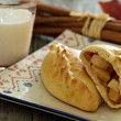 Stock Photo: Yeast pastry with apples (pirogi)