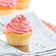 Cupcakes with frosting and sprinkles — Stock Photo #37106591